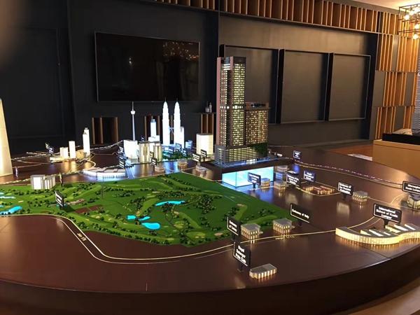 马来西亚槟城总体规划沙盘模型