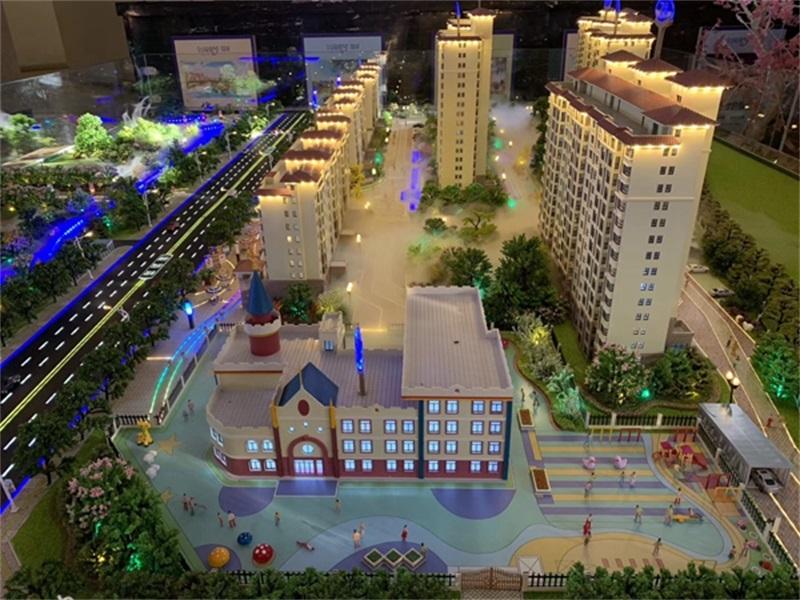 房地产模型进行地面铺贴的方法是什么 ?