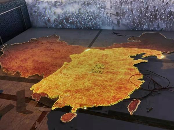 中国地图沙盘